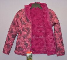 The North Face Girl Reversible Mossbud Swirl Insulated Jacket Pink Butterfly M
