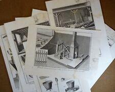 Gravure Antique Print XVIIIe Plomb et Plomberie 8 planches Diderot In-4°