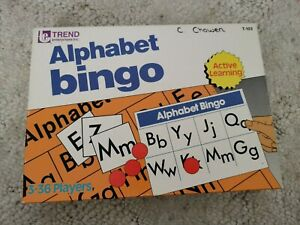 ALPHABET BINGO GAME 36 PLAYERS, BY TREND ENT. INC. VINTAGE 1975 Complete