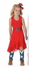 Wrangler Girls Sleeveless Dress & Crochet at Neck - Chinese Red - XL - GWD655R