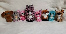 """Lot of 8 Ty Beanie Boos  Plush 1-8.5"""" & 7-6""""  All Different"""