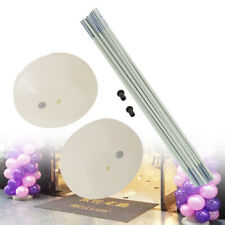 Balloon Arch Column Stand Frame Kit for Birthday Wedding Party Use White