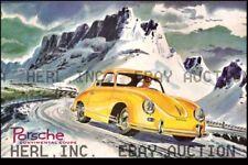 Porsche Continental Coupe Pordori Pass Alpine Rally ca 8 x 10 print prent poster