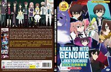 ANIME DVD~ENGLISH DUBBED~Naka No Hito Genome[Jikkyouchuu](1-12End)FREE SHIP+GIFT