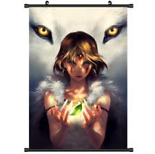 Anime Mononoke Hime Princess wall Poster Scroll 3295