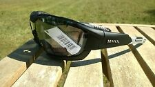 Maxx HD Motorcycle sunglasses Black smoke lens foam 2.0 padding ATV