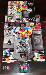 Buffalo Gumball Surprise Color Splash 1000 Piece Jigsaw Puzzle Candy Machine Art