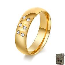 Original Enez Ring Trauring Ehering Edelstahlring Gr: 8 (18,1mm) B: 6mm R2650 +