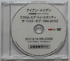 IRON MAIDEN From Fear To Eternity Rare 2011 Japan DVD For Music Store Only