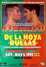 Oscar De La Hoya vs. Rafael Ruelas/original Full-size TVKO Boxe Fight Poster