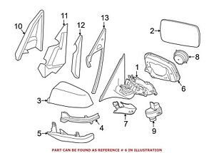 For BMW Genuine Door Mirror Trim Ring Front Right 51167308644