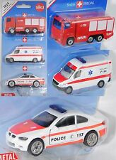 Siku Super 1824 03903 CH Notruf-Set Swiss1 mit  Scania, Mercedes-Benz und BMW M3