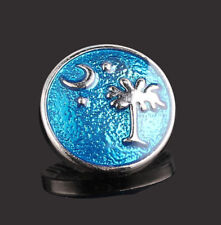 Palm Tree with Moon & Stars Interchangeable Noosa Ginger Snaps Button Charm18mm