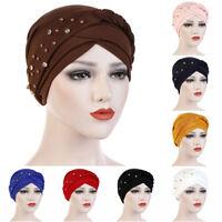 Women Muslim Hair Loss Braid Head Hijab Turban Wrap Cover Cap Hat Accessories