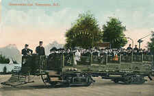 c1911 Canadian Observation Car, Vancouver, BC Tinted Postcard