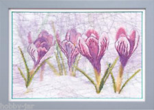 EMBROIDERY KIT EMBELLISHED STITCH KIT CRYSTAL ART SPRING SKETCH FLOWERS BT-515
