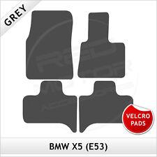 BMW X5 E53 2000-2006 Velcro Pads Tailored Carpet Car Floor Mats GREY