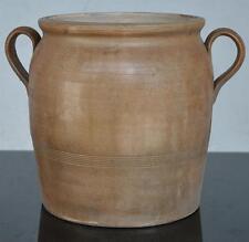 Pot à anses terre cuite vernissé vers 1900 hauteur 24 cm