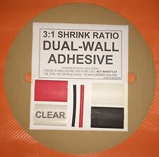 "1/4"" / 6mm Clear 50 Ft. Dual-Wall Adhesive Lined Heat Shrink Tubing 3:1 Ratio"