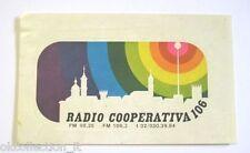 ADESIVO RADIO Vecchio / Sticker / Autocollant _RADIO COOPERATIVA 106 RHO