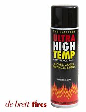 Ultra High Temp Matt Black Paint 450ML Stove Grate Fireplace BBQ Flue Pipe Car