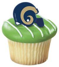 NFL Football Helmet Cupcake Topper Rings - St. Louis Rams