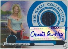 "2005-06 TOPPS WORN-JEANS AUTO: CHRISTIE BRINKLEY #34/50 AUTOGRAPH ""UPTOWN GIRL"""