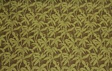 """LUXURY PALM LEAF LEAF GREEN BROWN HEAVY UPHOLSTERY FABRIC BY THE YARD 56""""W"""