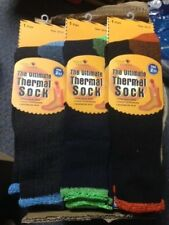 LOT OF 3---SOLE TRENDS ULTIMATE THERMAL SOCKS TOG 2.13 MAX HEAT THICK CUSHIONING