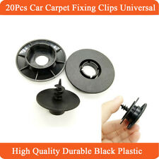 20x Black Plastic Fixing Clips Anti-slip Fasteners for Car SUV Carpet Floor Mat