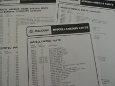 USED RALEIGH MISCELLANEOUS PARTS 3 X INFO SHEET REPRODUCTION ,CHOPPER IS ON IT