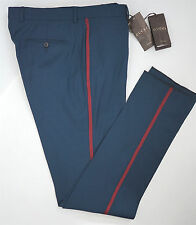 NWT Authentic GUCCI Wool Stretch Gabardine MILITARY Style Pants Trousers 52/36