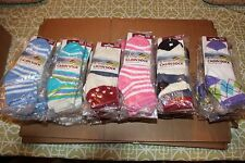 BNWTS Yaktrax Women's LIGHT WEIGHT ALL YEAR  Cozy Cabin Sock MULTIPLE COLORS