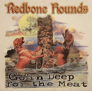 REDBONE HOUNDS DEEP 4 THE MEAT COONHOUNDS COON HUNTER #526-B LONG SLEEVES SHIRT