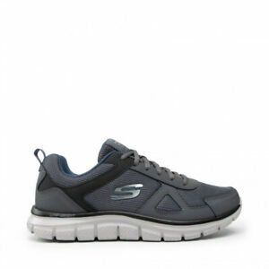 Skechers Track-scloric, Scarpe da Ginnastica Basse Grey Navy with memory foam