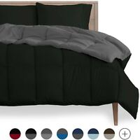 Goose Down Alternative Reversible Comforter - Ultra Soft - All Season Breathable