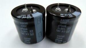 2 x Panasonic EETEE2D801KJ 800uF 200V DC Electrolytic Aluminium Capacitor