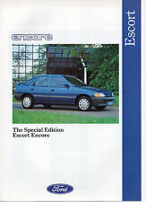 Ford Escort Encore Special Limited Edition Prospekt 1991 nie aus Showroom