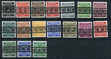 GERMANY 1948 AM/BRI ZONE 593A-599 34 VALUES DOUBLE OVPT PERFECT MNH PHOTO CERT