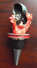 Beautiful Pampelonne Austrian Crystal Coral Bottle Stopper