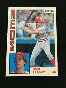 1984 OPC NICK ESASKY ROOKIE CINCINNATI REDS  RARE O-PEE-CHEE BASEBALL CARD