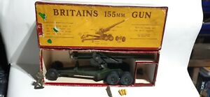*VGC Britains 155mm Gun,Complete and Boxed with shells ,working