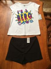 Girls Outfit Disney I'm A Hero Top W/ Children Place Skate Shorts Size XS 4 NWT