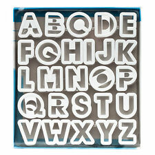 Ateco 26 Pc Alphabet Cutter Set Cake Decorating Fondant Cookie Cutter - 2""