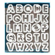 "Ateco 26 Pc Alphabet Cutter Set Cake Decorating Fondant Cookie Cutter - 2"""