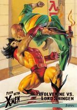 WOLVERINE VS. LORD SHINGEN / X-Men Fleer Ultra Wolverine (1996) BASE Card #32