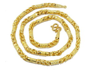 """Awesome Thai Classic Mix Chain 25"""" Heavy Necklace 22K 24K Gold GP Jewelry GT2"""