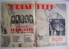 URIAH HEEP 1972 original POSTER ADVERT DEMONS & WIZARDS CONCERT TOUR