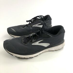 Brooks Adrenaline GTS 20 Black Silver Running Shoes Mens Size 13 D No Insoles