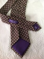 Ralph Lauren Purple Label Brown. Gold Dots Neck Tie